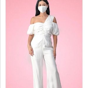 White Romper with Mask